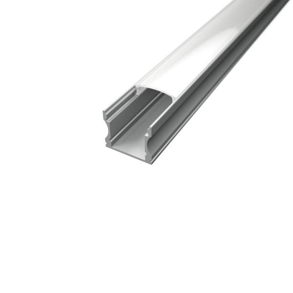 Aluminijski profil NADGRADNI 2 15,3mm x 17,1mm – 2m
