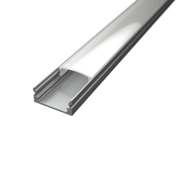 Aluminijski profil NADGRADNI 8mm x 17,1mm – 2m - mliječni pokrov