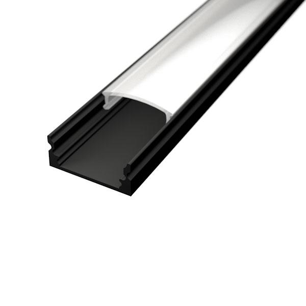 Aluminijski profil NADGRADNI 8mm x 17,1mm CRNI 2m