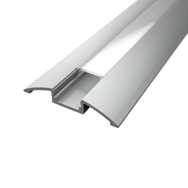 Aluminijski profil NADGRADNI 8mm x 52,3mm mliječni pokrov