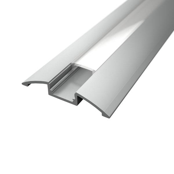 Aluminijski profil NADGRADNI 8mm x 52,3mm prozirni pokrov