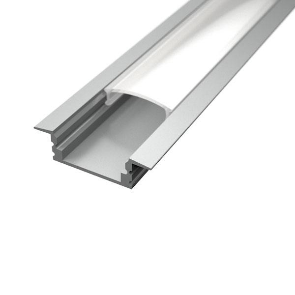 Aluminijski profil UGRADBENI 1 8mm x 17,1mm – 2m Mliječni pokrov