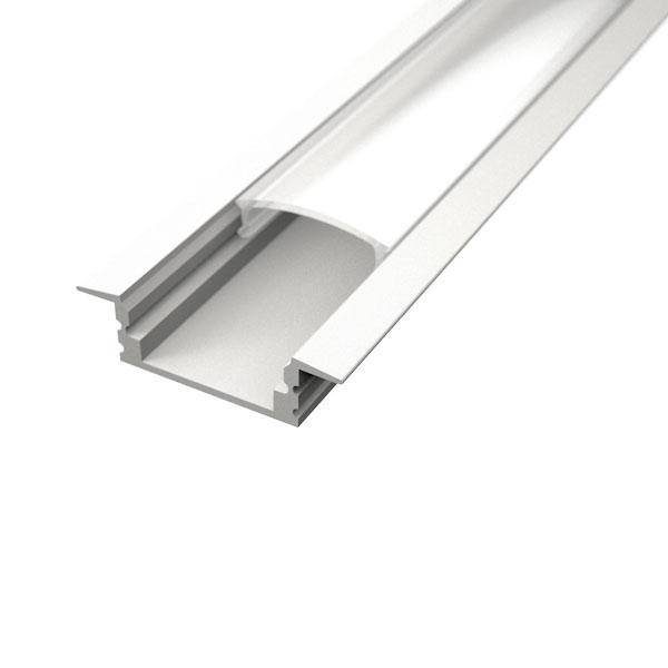 Aluminijski profil UGRADBENI 1 BIJELI 8mm x 17,1mm – 2m Mliječni pokrov