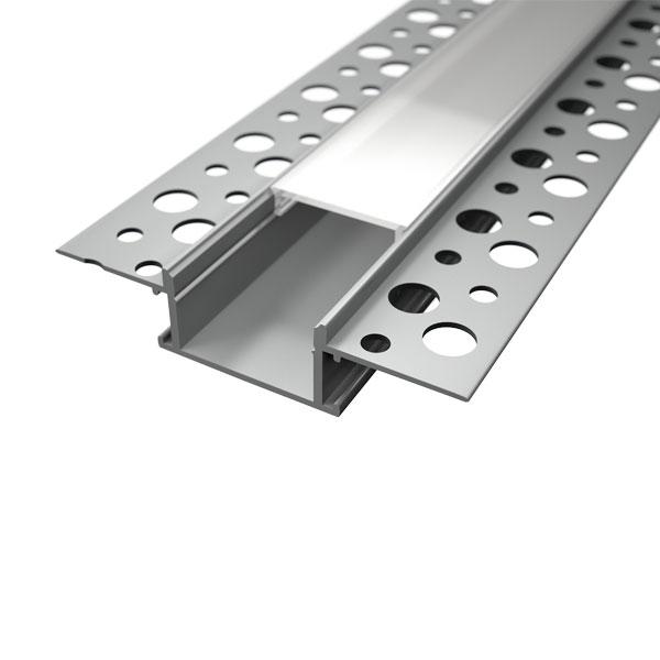 Aluminijski profil UGRADBENI 13,8mm x 24,2mm Mliječni pokrov