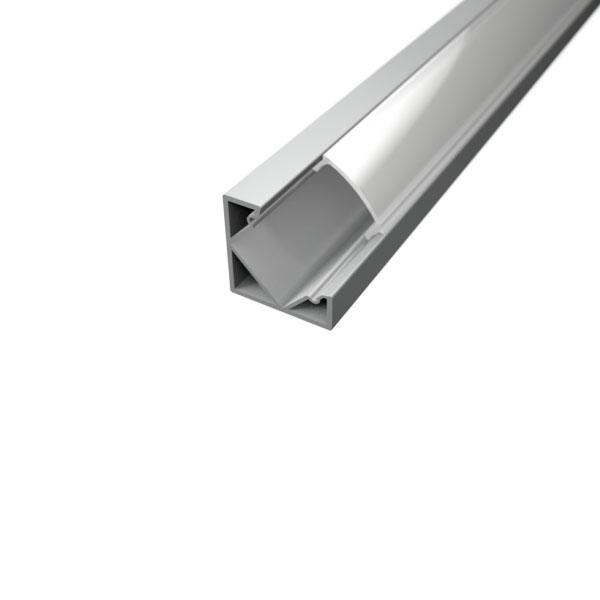 Aluminijski profil za LED traku KUTNI 1 18,5mm x 12,2mm – 2m