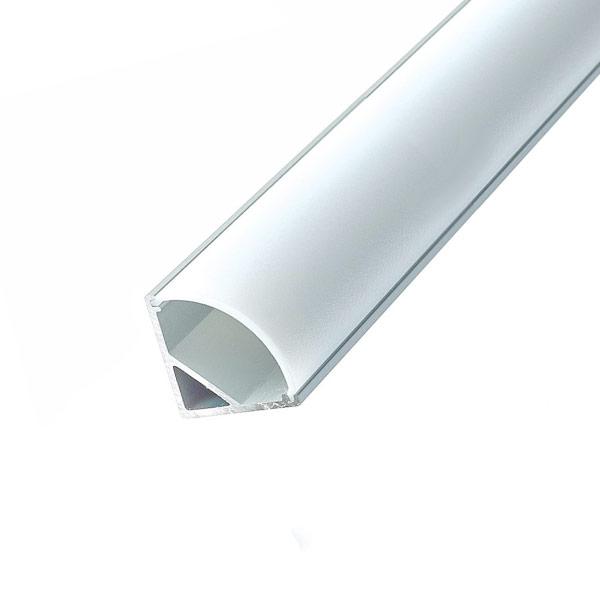 Aluminijski profil za LED traku KUTNI 2m 15.8/mm x 10.5mm