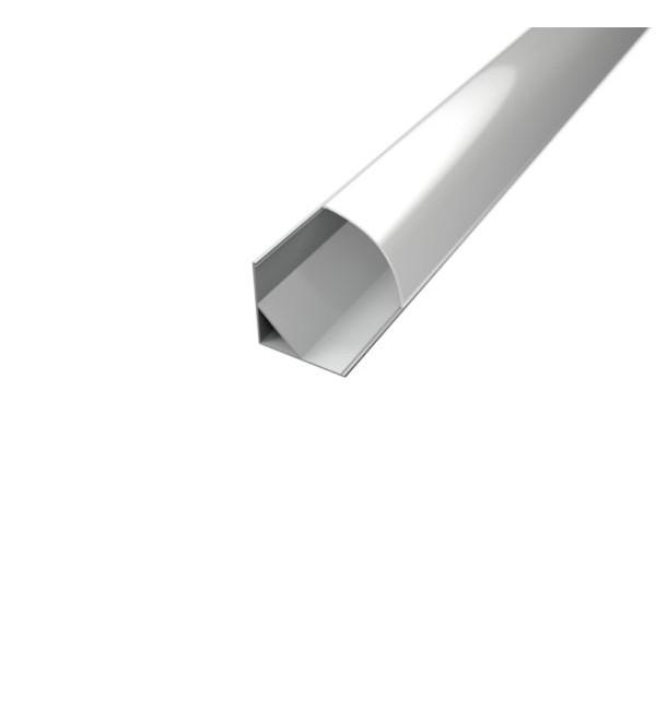 Aluminijski profil za LED traku KUTNI 2m 16mm x 10mm