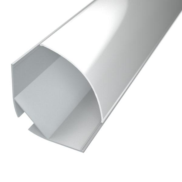 Aluminijski profil za LED traku mliječni KUTNI 30mm x 20,2mm – 2m