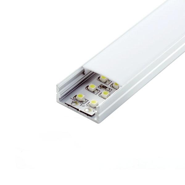 Aluminijski profil za LED traku nadgradni 2m 23.5x9.8x21.5mm