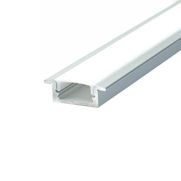 Aluminijski profil za LED traku ugradbeni 2m 24.7x12.4x7mm
