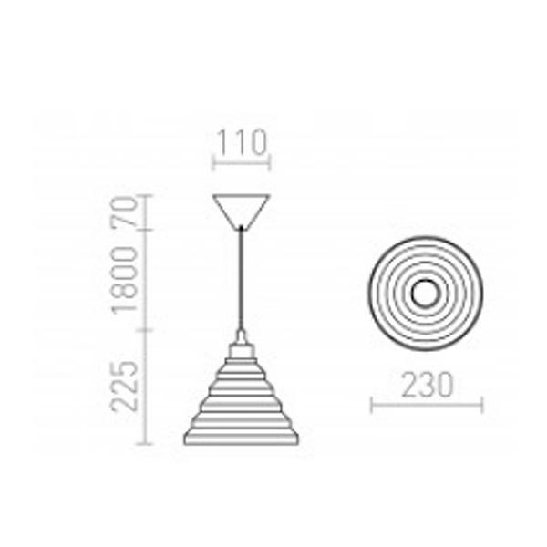 AMICI visilica sa podesivim silikonskim sjenilom E27 2000mm