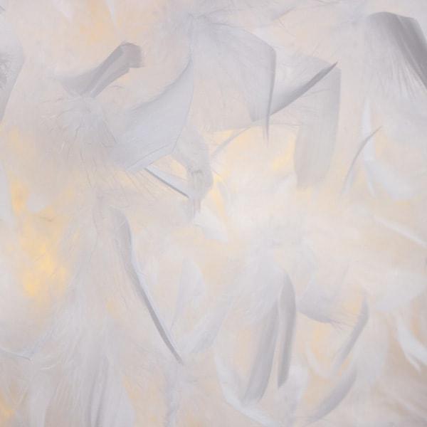 ARISTA 36 Viseće sjenilo od pravog perJa za grlo E27 LED unutarnja rasvjeta R12386 Led žarulje - LED rasvjeta