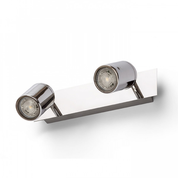 DUBLIN II montažni krom LED reflektor 230V GU10 2x9W IP44