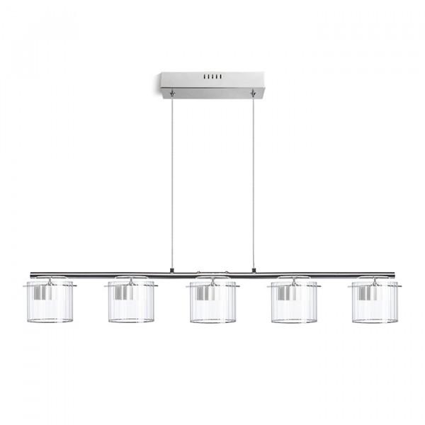 Estra V visilica kristalno staklo 230V LED 5x5W 3000K LED unutarnja rasvjeta R11678 Led žarulje - LED rasvjeta