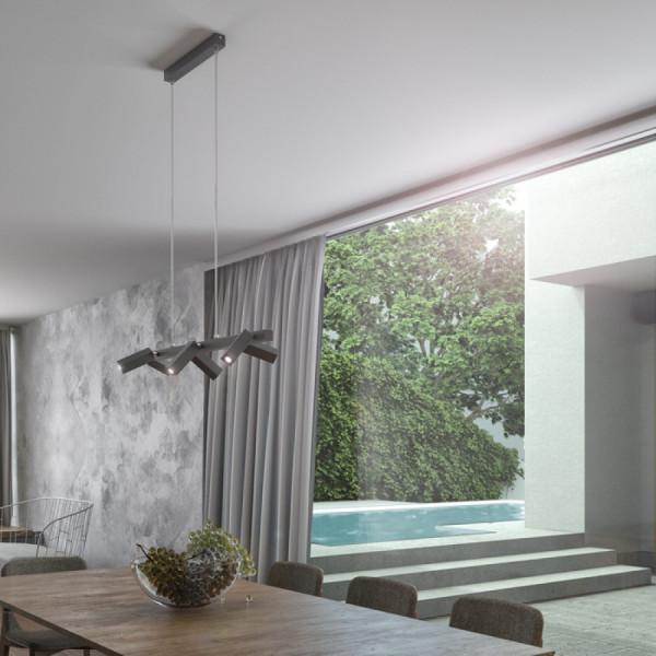 FADO VI VISEĆA svjetiljka crna 230V LED 6x3W 45° 3000K