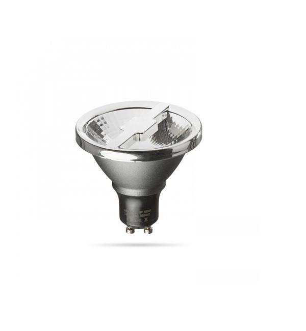 GU10 LED 6W 24° 3000K ALFA 69 srebrno siva krom 230V