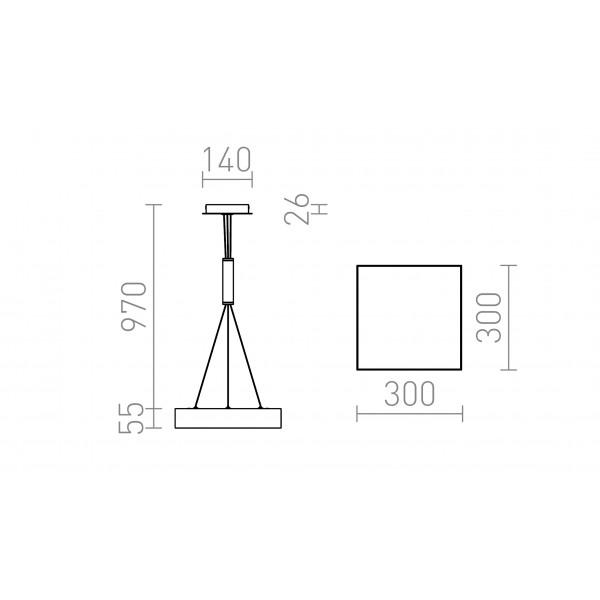 LARISA SQ 30 viseći LED modul dimmer