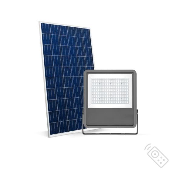 LED REFLEKTOR 100W SA SOLARNIM PANELOM 6000K IP65