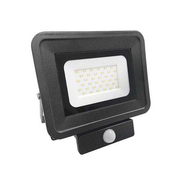 LED REFLEKTOR 10W CLASSIC SMD  IP65 PIR SENZOR POKRETA CRNI
