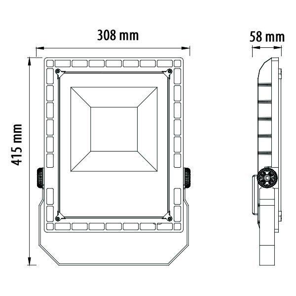 LED REFLEKTOR 150W ZA STADIONE IP65 5700K LED reflektori SL9176 Led žarulje - LED rasvjeta