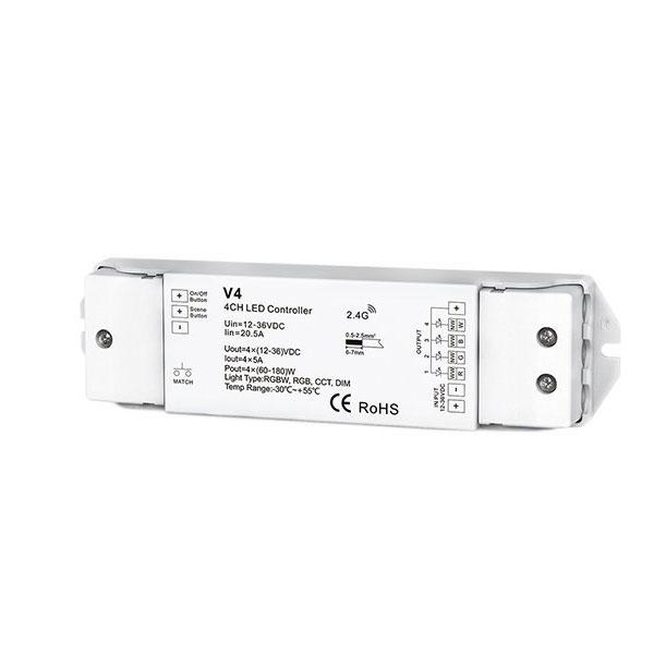 LED RGB / RGBW kontroler 4CH 4 * 5A V4 s...