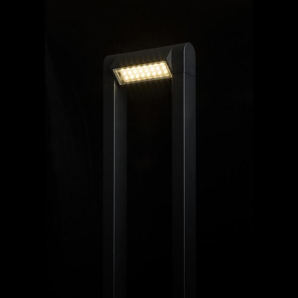 LED VRTNA SVJETILJKA PODNA Stajaća AQUE mat crna 230V LED 8W 800lm Ra 80  IP54 3000K