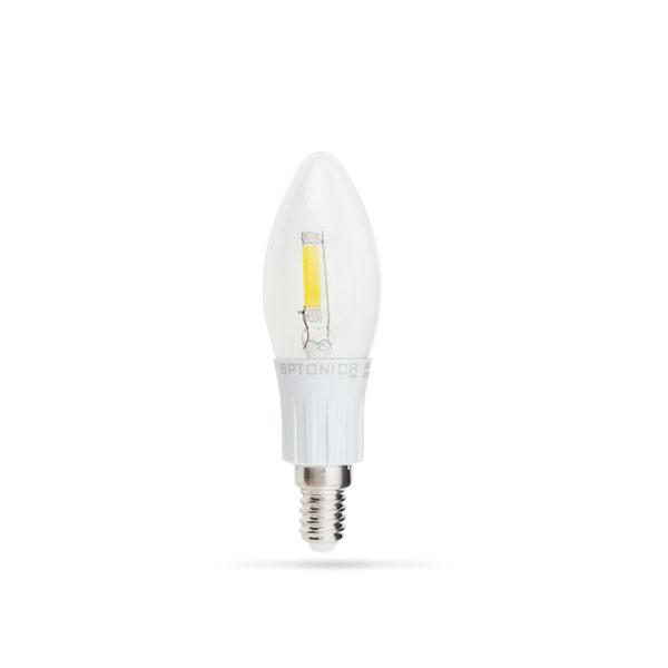 LED žarulja E14 2W Filament Svijećica 2800K