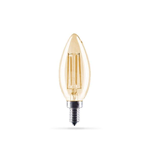 LED žarulja E14 4W Filament C35 Zlatna 2500K