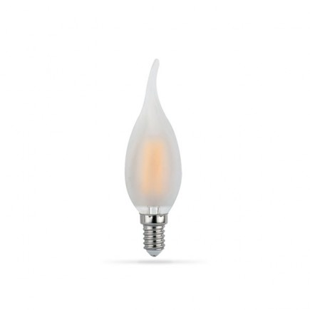 LED žarulja E14 4W Filament Flame C35T ...