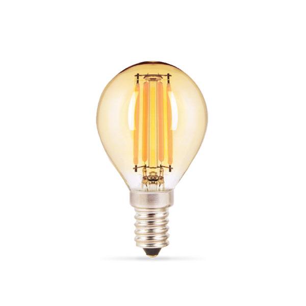 LED žarulja E14 4W Filament G45 Zlatna 2800K