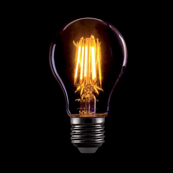 LED ŽARULJA E27 A60 8W FILAMENT AC220-240V 2800-3200K ZLATNA LED ŽARULJE 99LED773 Led žarulje - LED rasvjeta
