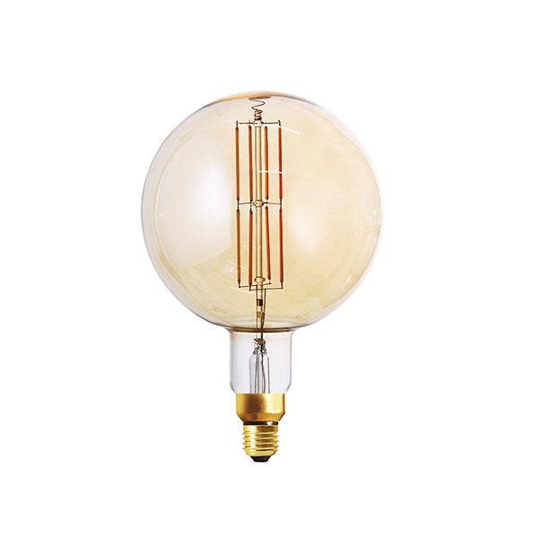 LED ŽARULJA E27 G200 8W zlatno staklo Dimabilna Filament 1800K