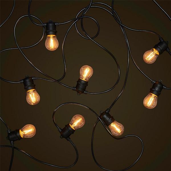 LED ŽARULJA E27 G45 4W FILAMENT 320lm AC175-265V DIMABILNA 2700k Zlatna