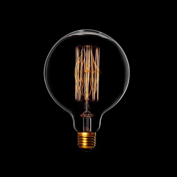 LED ŽARULJA E27 G95 4W zlatno staklo Dimabilna Filament 2500K