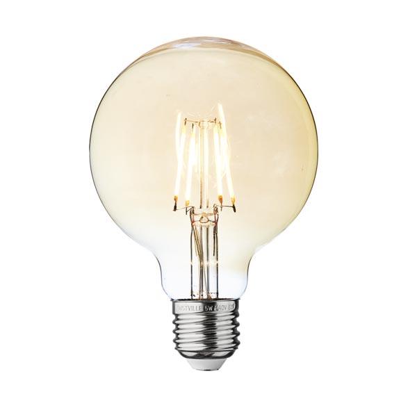 LED ŽARULJA E27 G95 8W zlatno staklo Dimabilna Filament 2800-3200K