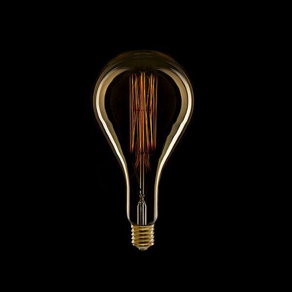 LED ŽARULJA E27 PS160 8W zlatno staklo Dimabilna Filament 1800K