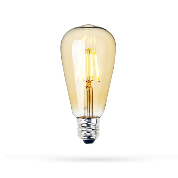 LED ŽARULJA E27 ST64 6.5W FILAMENT ZLATNA 2700K