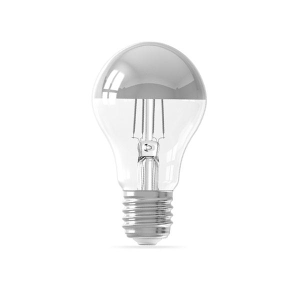 LED ŽARULJA Srebrno sjenilo A60 E27 4W 400lm AC175-265V Filament 2700K