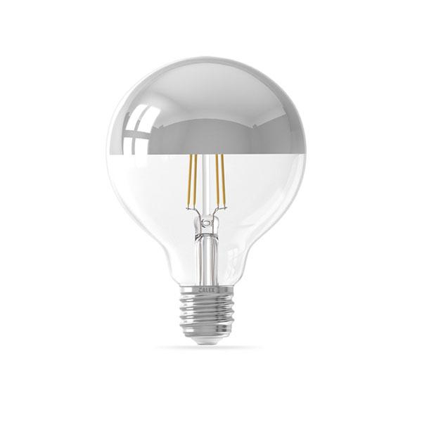 LED ŽARULJA Srebrno sjenilo G95 E27 4W 400lm AC175-265V Filament 2700K