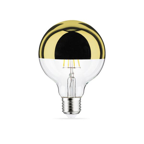 LED ŽARULJA Zlatno sjenilo G95 E27 7W 8...