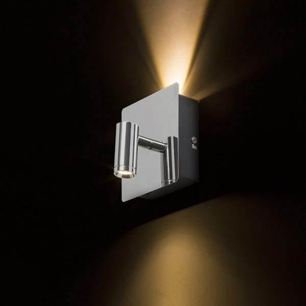 LED USMJERENA SVJETILJKA 2x3W 230V 3000K krom