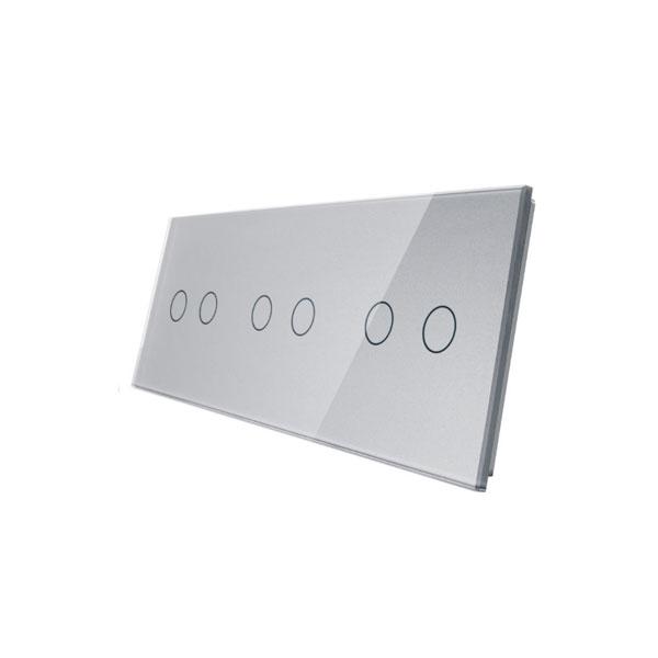Livolo stakleni panel za prekidač 2+2+2