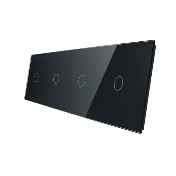 Livolo stakleni panel za prekidač 1+1+1+1