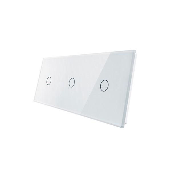 Livolo stakleni panel za prekidač 1+1+1