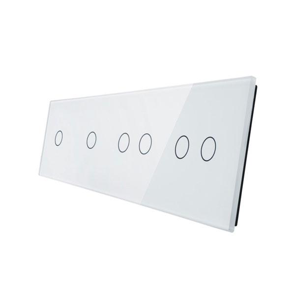Livolo stakleni panel za prekidač 1+1+2...