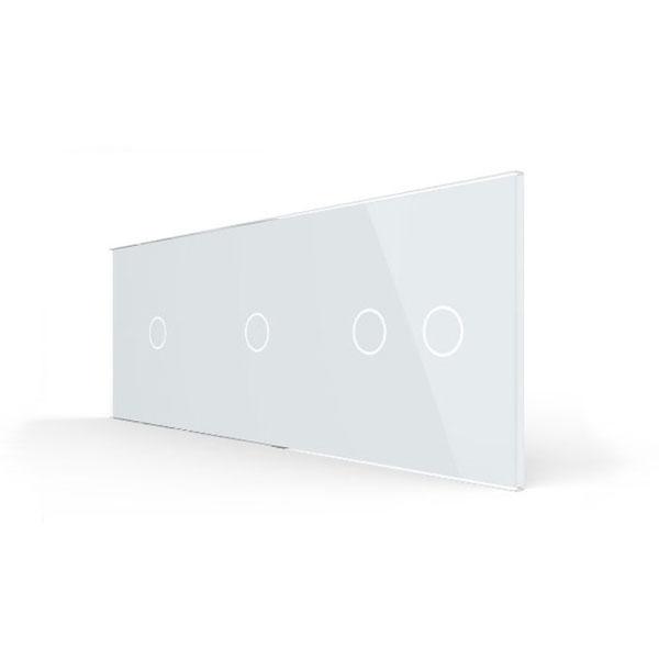 Livolo stakleni panel za prekidač 1+1+2