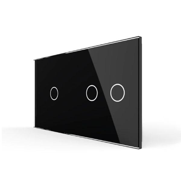 Livolo stakleni panel za prekidač 1+2