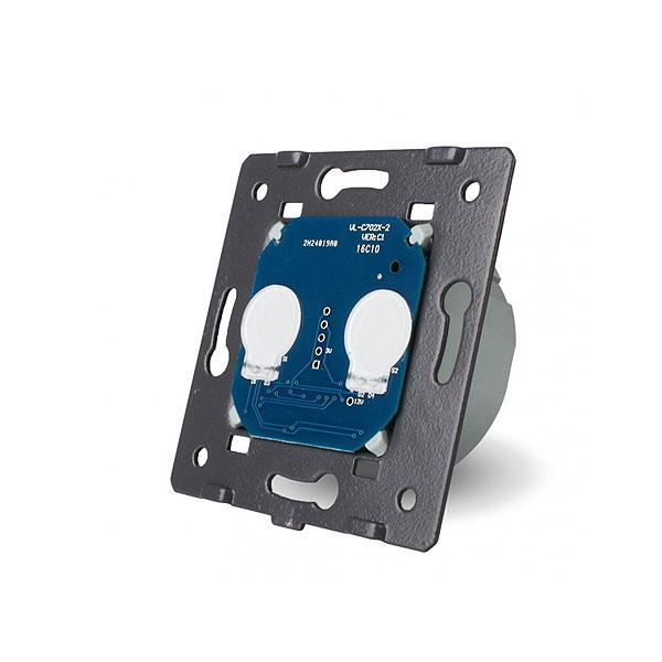 Livolo touchscreen zidni dvostruki serijski prekidač - Kontrola daljinskim upravljačem