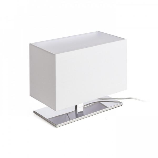 PLAZA S stolna LED lampa bijela/krom 230...