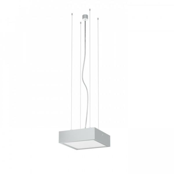 Structural 20 LED visilica satensko staklo brušeni aluminij 230V 2x18W 200x200